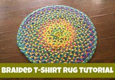 How To Make A Braided T-Shirt Rug, DIY Tutorial