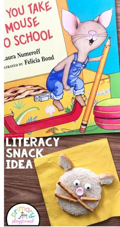 If You Take A Mouse To School Literacy Snack Idea + Free Printable