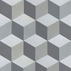 CUBIC HEXAGON - ULFVEN Tiles, Flooring, Graphic Design, Texture, Crafts, Cement, Colorful, Decor, Green Houses