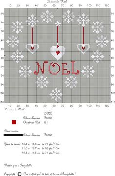 point de croix Noël