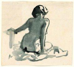 Félix Vallotton, Femme assise de dos, vers 1915