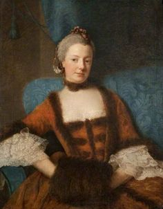 1759 Henrietta Diana Dowager Countess of Stafford by Allan Ramsay (Glasgow Museums - Glasgow, Lanarkshire, UK) Portrait Art, Portraits, Glasgow Museum, Dowager Countess, 18th Century Costume, 18th Century Fashion, Diane, Art Uk, Your Paintings