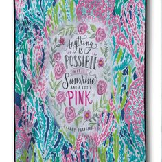 New Design Lilly Pulitzer Coral Quote Best Design Blanket