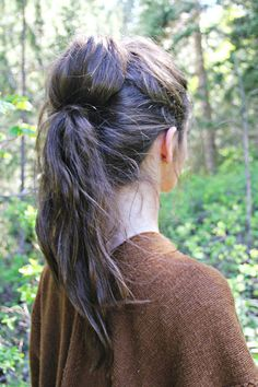 two ponytails into one Trying this one tomorrow!