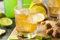 Lacto-fermented Ginger Ale       Tonic of choice if you had an upset stomach or the flu.
