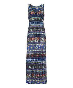 Loving this Blue & Mint Tribal Maxi Dress on #zulily! #zulilyfinds