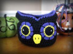 Owl Basket CROCHET PATTERN instant download  bag bowl door Bowtykes
