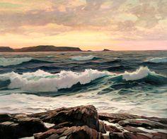 Tarde de sol. Cerca de 1930. Óleo sobre tela. Frederick Judd Waugh (Bordentown, NJ, USA, 13/09/1861 - 10/09/1940, Provincetown, MA, USA).