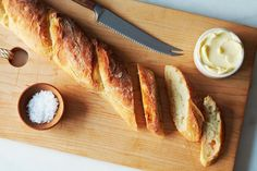 4 hour baguette recipe from Food 52 - Amazingly easy to make! Bread Recipes, Baking Recipes, Baking Tips, Artisan Bread, How To Make Bread, Food 52, Diy Food, Food Ideas, Bread Baking