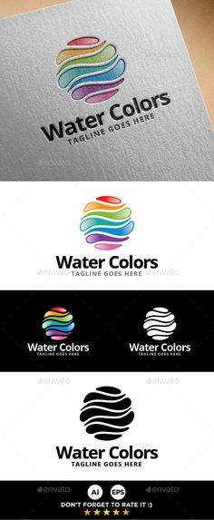 Water Colors Logo Template