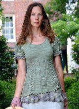 Memories in Lichen knit shirt pattern by Sanguine Gryphon