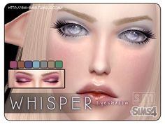 The Sims Resource: Whisper - Light Eyeshadow by Screaming Mustard • Sims 4 Downloads