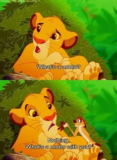 Lion King, What's a motto with you?
