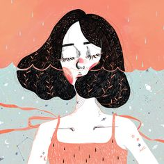 Drowning in thoughts Illustrations of 2015 of Kathrin Honesta, Kuala Lumpur…