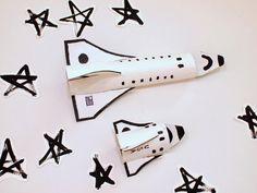 make cardboard roll space shuttle craft
