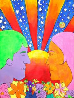 In the style of Peter Max