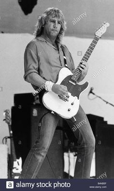 Stock Photo - Rick Parfitt of Status Quo at Live Aid Concert 1985 Wembley Stadium Status Quo Live, Rick Parfitt, Live Aid, Wembley Stadium, British Rock, Concert Posters, Lancaster, Pop Group, Cool Bands