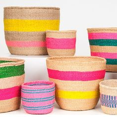 Selvedge magazine: the fabric of your life, textiles in fine art, fashion, interiors, travel and shopping. Painted Baskets, Wicker Baskets, Moroccan Design, Basket Decoration, Weaving Art, Handmade Home, Bohemian Decor, Soft Furnishings, Home Decor Accessories