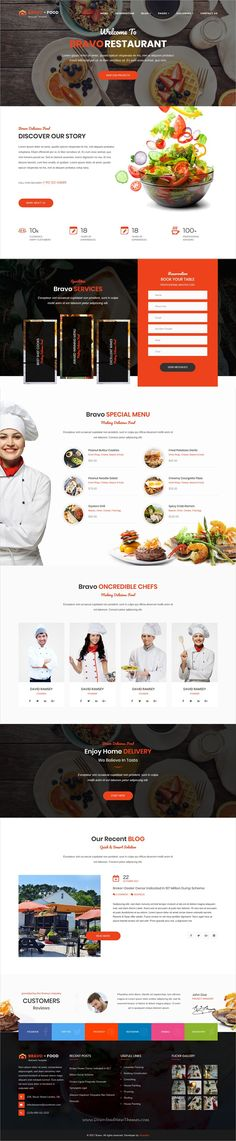 Bravo is clean and modern design 5+ responsive multipurpose #Joomla template for #restaurant and #cafe website to live preview & download click on Visit