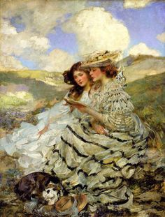 Lady Shannon and Kitty on the Dunes by James Jabusa Shannon, 1900-1910