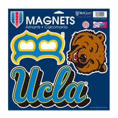 "UCLA Bruins WinCraft 11"" x 11"" Inch 3-Pack Car Magnet Set"