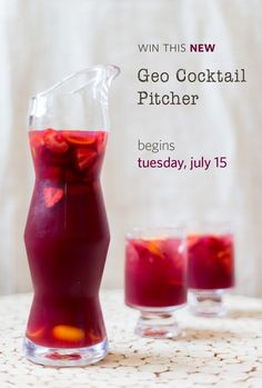 Be the first to own our NEW Geo Cocktail Pitcher - enter our photo contest!  #simonpearce