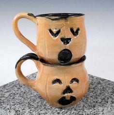 pumpkin mug set by BigSkyArtworks