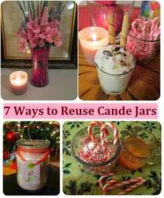 Seven Ways and Ideas to Reuse Candle Holder Jars.