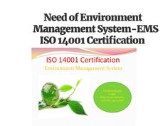 ISO 14001 Standard EMS
