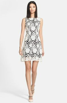 Alice + Olivia 'Jolie' Cotton Lace Dress | Nordstrom