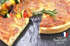 Quiche lorraine z wędzonym boczkiem i szaszłykiem z kolorowych warzyw #intermarche #quiche Quiche Lorraine, Food Inspiration, Breakfast, Morning Coffee