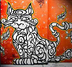 Graffiti Art Cat