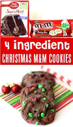 holiday Cookies m&m - Christmas Cookies Recipes Easy Best Holiday Cookie Exchange Recipe! Easy Christmas Cookie Recipes, Christmas Snacks, Christmas Cooking, Holiday Baking, Christmas Desserts, Holiday Treats, Holiday Parties, Holiday Recipes, Easy Holiday Cookies
