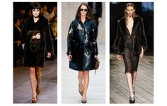 Beauty of the Day Marc Jacobs, Burberry Prorsum Prada.  Think fur on bare skin, lingerie detailing...