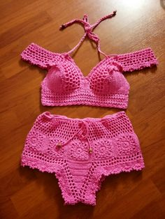 Ideas For Swimwear Trikini Free Pattern Crochet Bikini Pattern, Crochet Bikini Top, Knit Crochet, Crochet Patterns, Crochet Lingerie, Swimwear Fashion, Crochet Clothes, Crochet Baby, Marie