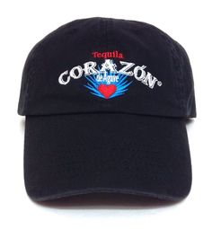 TEQUILA CORAZON de AGAVE HAT Black Blue White Red Relaxed/Dad Men/Women Liquor #Signatures #BaseballCap