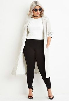 >> Check out Plus Measurement Basic Excessive-Waisted Leggings