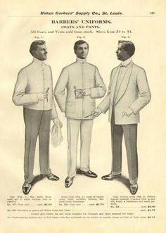 vintage school barber uniforms.