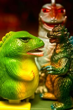 Sparkzilla and Friends, photo by Patti Sundstrom: Stupendous spark spitting wind up toy. #Sparkzilla  #Patti_Sundstrom