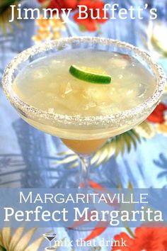 If you're wasting away in Margaritaville, Jimmy Buffett's Margaritaville Perfect Margarita is just the drink you need. This margarita recipe blends gold and white tequilas with triple sec, curacao and Rose's lime juice.