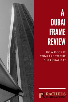 I thought the Dubai Frame was a large picture frame, a story or two tall, perfect for taking a picture of the glitzy Dubai skyline. I was wrong. Dubai Skyscraper, Dubai City, Dubai Uae, Travel Advice, Travel Tips, Travel Destinations, Big Picture Frames, I Was Wrong, Dubai Travel