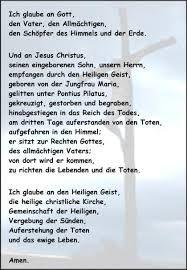 Text Glaubensbekenntnis