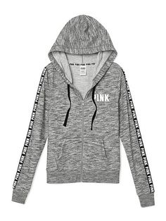 Perfect Full-Zip PINK SC-342-315 (3SV)Soft, slim and super cool! Pull the drawstring snug or leave it loose for your idea of the perfect fit. Only by Victoria's Secret PINK. Slim fit Logo trim Print graphics Supersoft fleece Imported cotton/polyester