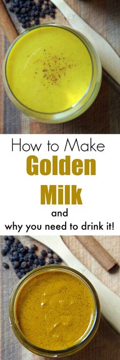 How to Make Golden Milk and What the Heck is it Anyhow? How to Make Golden Milk and Golden Milk Turmeric Recipe [tumeric recipes Shot Recipes, Milk Recipes, Healthy Recipes, Healthy Drinks, Yummy Recipes, Yummy Drinks, Healthy Tips, Healthy Choices, Healthy Foods