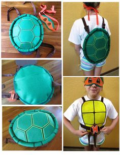 Teenage Mutant Ninja Turtle Costume / Shell with matching mask