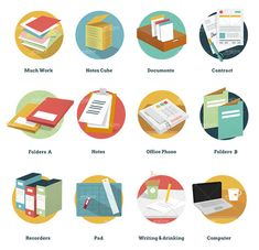 Free goodies for commercial and private projects: office and business icons (incl. AI/EPS sources) that could come in handy for apps, websites and print.