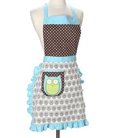 Take a look at this Hoot Stuff Apron - Women by Whim on #zulily today! $14 !!