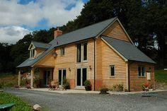 Oak frame house with frame by Welsh Oak