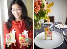 DIY Mini Masterpiece Favors.  Perfect for the artsy couple!  Image and tutorial via Oh Happy Day from October 3, 2011.