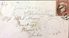 'Two rare envelopes sent by author Charlotte Brontë to her life-long friend are expected to fetch up to when they go under the hammer.' -- an article via BBC News, November Under The Hammer, Bronte Sisters, Robert Louis Stevenson, Charlotte Bronte, Addressing Envelopes, Jane Eyre, Book Worms, Lettering, Auction